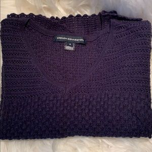 French Connection V neck sweater 3/4 sleeves